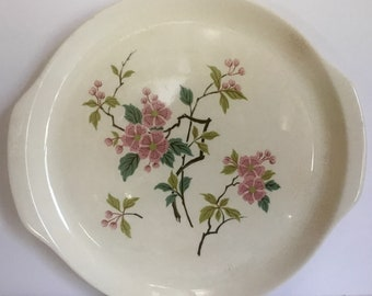 Asian theme cherry blossom platter from the 1940's/ Harmony House China/ Temple pattern