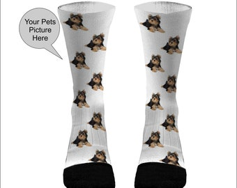 UPGRADE - Your Pets Picture Socks Dri Fit Athletic Compression Socks Dog  Socks Cat Socks Custom Pet Socks 2ccbf8e876