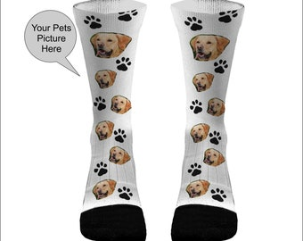 Your Pets Picture Socks Dri Fit Athletic Compression Socks Dog Socks Cat  Socks Custom Pet Socks Cat Paws Dog Paws b77df4294f