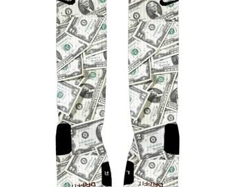 9efe2b3cdd8b Big Money Custom Nike Elite Socks