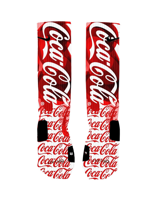 359a458ec6e0 Coca Cola Custom Nike Elite Socks