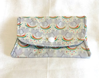 Elephant Rainbow Folding Notions Pouch Notions Case Notions Keeper