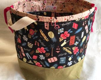 Travel Large Drawstring Knitting Bag