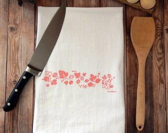 Pyrex Pink Gooseberry Flour Sack Tea Towel