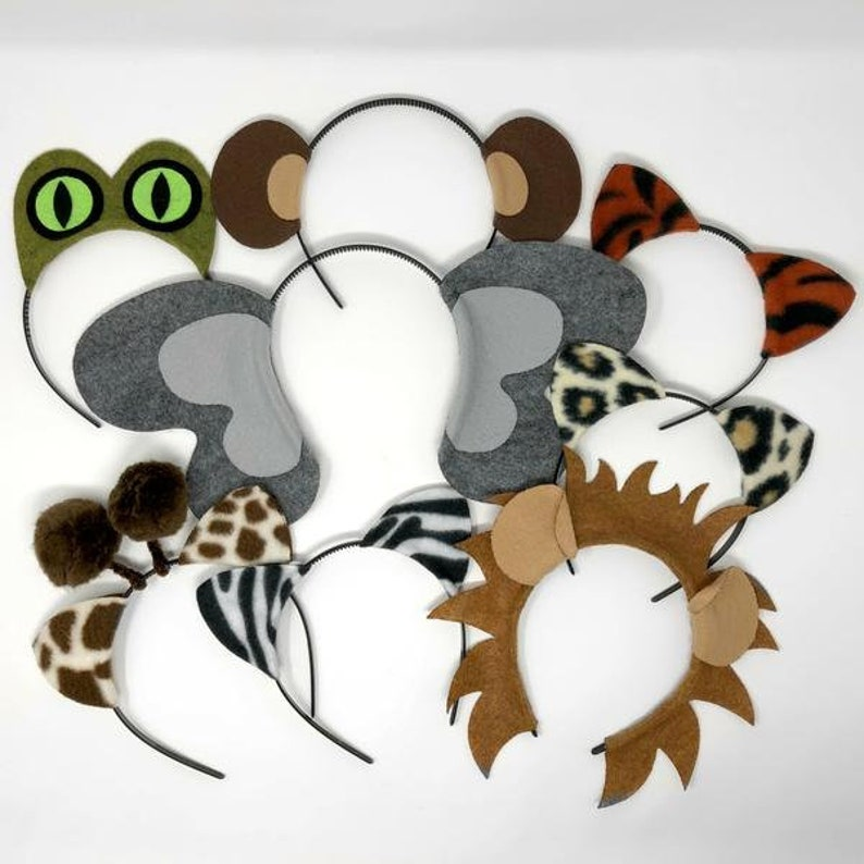 Jungle safari zoo animals theme ears headband birthday party  43d0eda2dce6