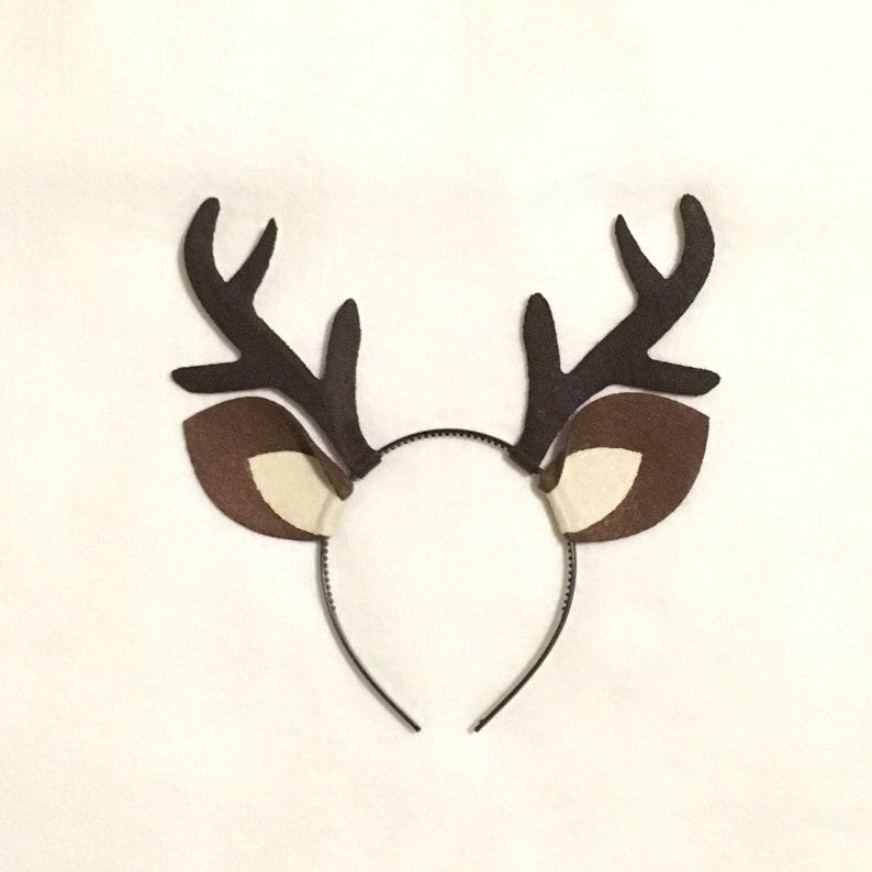 4179e8bf691 Antlers with ears deer elk reindeer headband birthday party