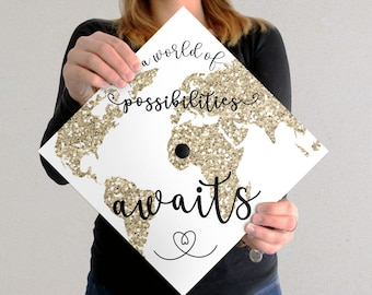 graduation cap decal etsy