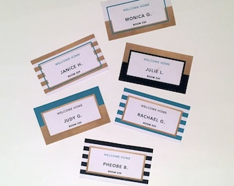 Name Tag Stripes Template | Door Decks Perfect for Dorm Rooms