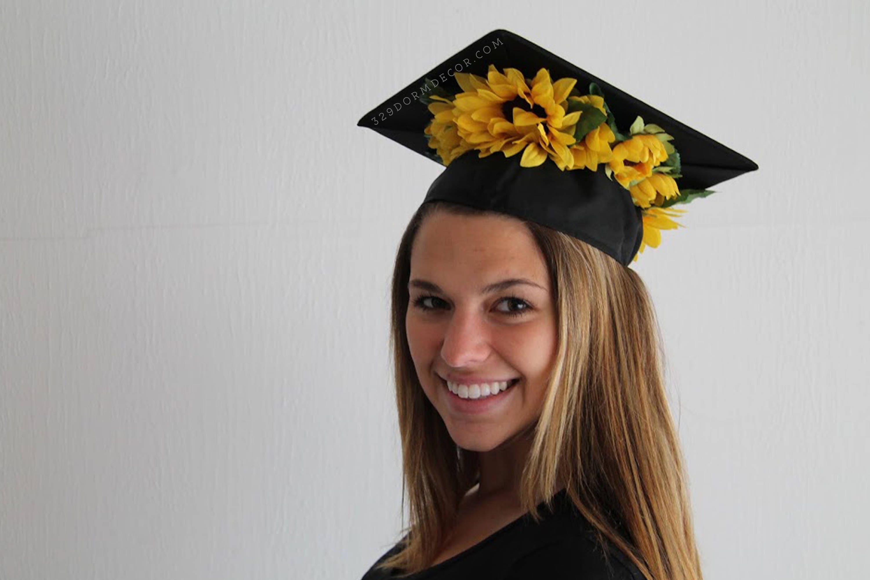 Sunflower Crown Graduation Cap Etsy