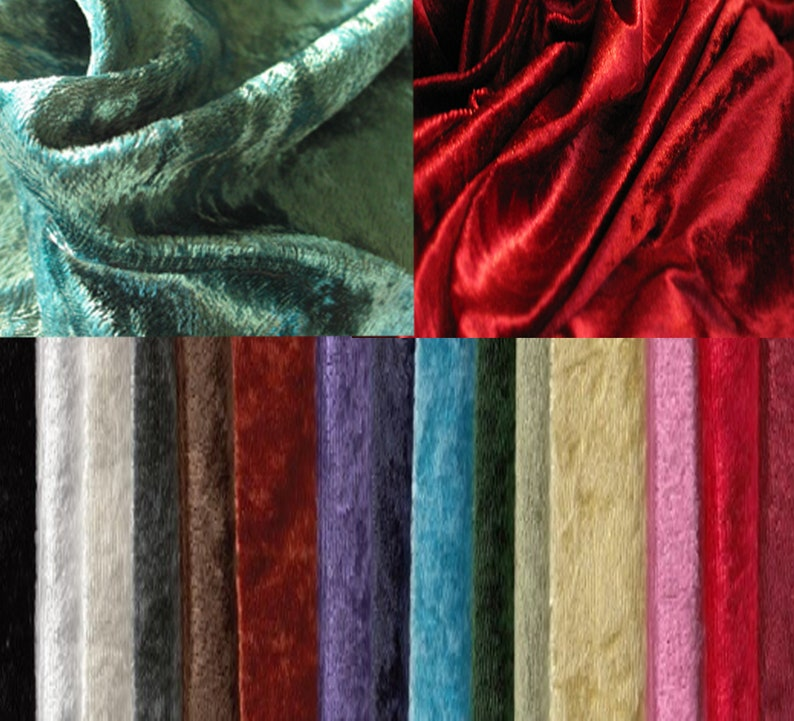 Panne Velvet by the yard 60 wide. Full line of colors image 0