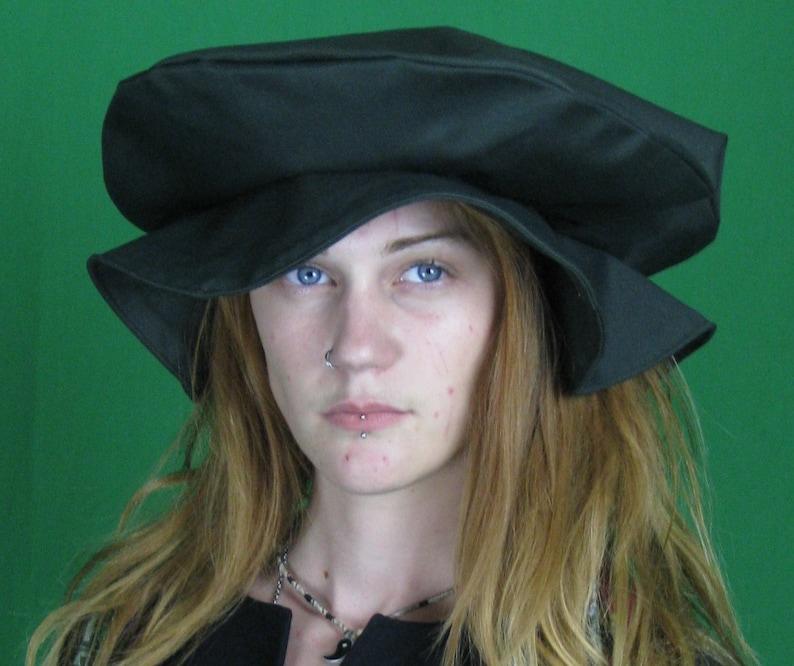 Flat Cap Renaissance Faire Hat Tudor flat cap for costumes  648b3f971ab