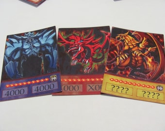 YuGiOh Anime Style Orica: Egyptian God Cards - Slifer the Sky Dragon, Obelisk the Tormentor, The Winged Dragon of Ra