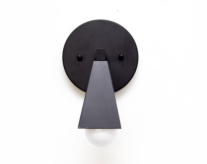 Wall Sconce - Matte Black - Mid Century - Modern - Industrial - Wall Light - Craftsman - Bathroom Vanity - Art Light - UL Listed [CARLISLE]