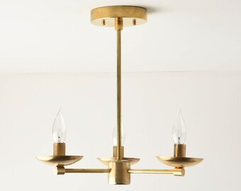 Chandelier Lighting - Gold Hanging Light - Mid Century - Industrial - Modern - Candelabra - UL Listed [CORVALLIS]