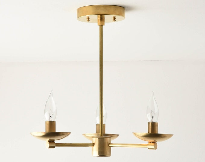Chandelier Lighting - Gold Hanging Light - Mid Century - Industrial - Modern - Candelabra - UL Listed [CORVALLIS]