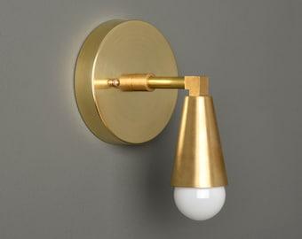 Gold Vanity Light - Modern Wall Sconce - Mid Century - Industrial - Wall Light - Bathroom Vanity - UL Listed [BENNETT]