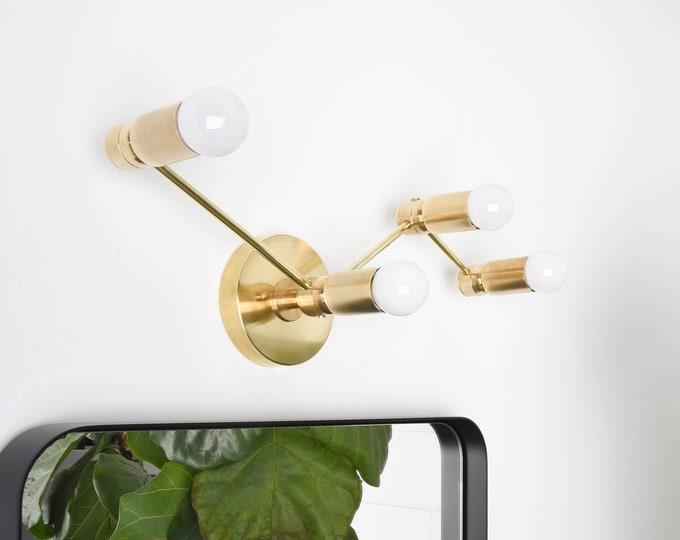 Gold Vanity Light - Modern Wall Sconce - Mid Century - Industrial - Wall Light - Bathroom Vanity - UL Listed [MILANO]
