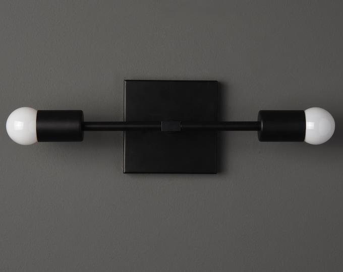 Wall Sconce - Matte Black - Mid Century - Modern - Industrial - Wall Light - Art Light - Bathroom Vanity - UL Listed [BELEN]