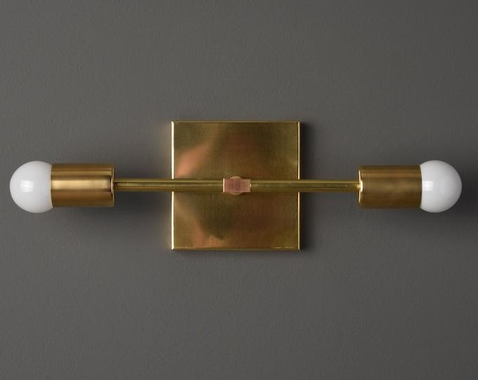 Wall Sconce - Raw Brass - Mid Century - Modern - Industrial - Wall Light - Art Light - Bathroom Vanity - UL Listed [BELEN]