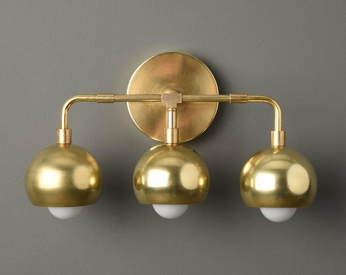 Gold Wall Sconce - Modern Vanity Light - Mid Century - Industrial - Wall Light - Bathroom Vanity - UL Listed [GREELEY]