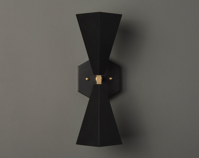 Modern Bathroom Light - Black & Gold - Wall Sconce - Mid Century - Wall Light - Hall Light - Bathroom Vanity - UL Listed [ANDERSON]