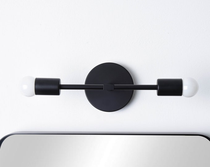 Black Wall Sconce - Black Vanity Light - Matte Black Light - Mid Century Sconce - Wall Light - Bathroom Lighting - Modern Lighting [ARTESIA]