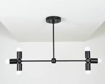 Wall Sconce Vanity 6 Light Wall Sconce Matte Black 6 Bulb Modern Mid Century Industrial Light Bathroom Vanity UL Listed