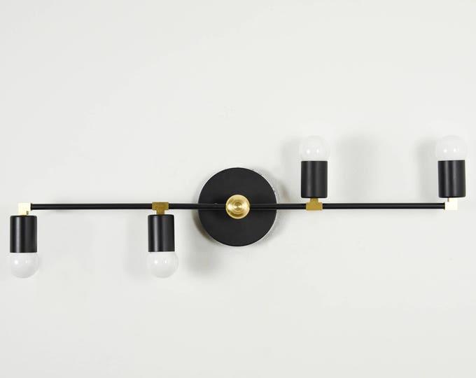 Modern Wall Light - Black & Brass - Mid Century - Industrial - Wall Light - Bathroom Vanity - UL Listed [NORWICH]