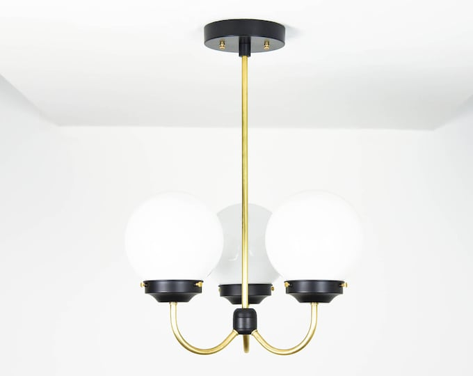 Modern Chandelier Light - Black & Gold Hanging Light - Mid Century - Industrial - Modern - Ceiling Light - UL Listed [SYDNEY]