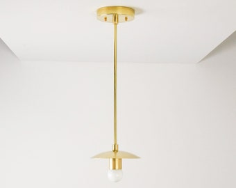 Pendant Light - Raw Brass - Mid Century - Modern - Industrial - Vanity - UL Listed [SONORA]