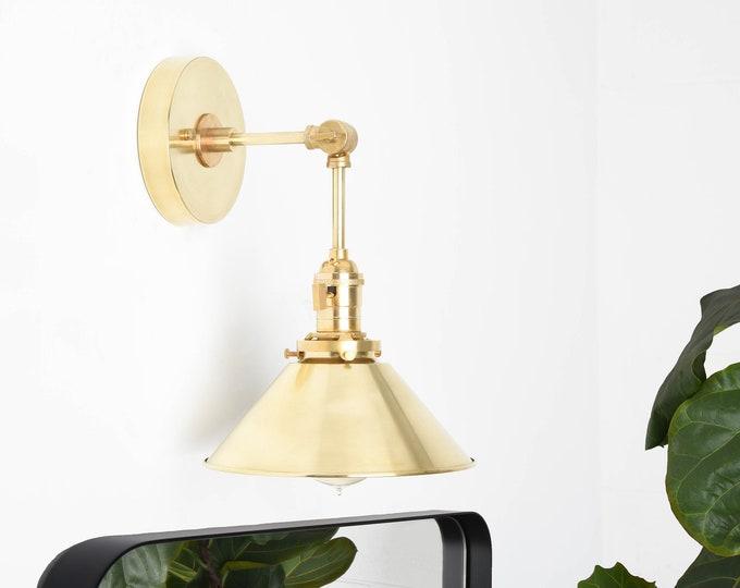 Adjustable Wall Sconce - Gold Wall Light - Mid Century - Modern - Industrial - Bathroom Vanity - Farmhouse [BALDWIN]