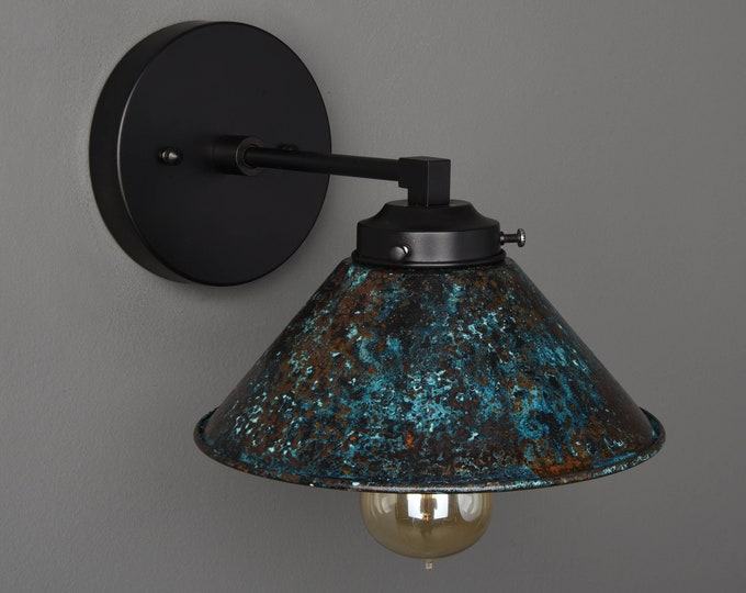 Wall Sconce - Black & Patina - Mid Century - Modern - Industrial - Wall Light - Bathroom Vanity - Art Light - UL Listed [PAXTON]