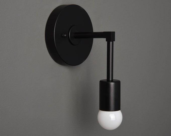 Black Vanity Light - Modern Wall Sconce - Mid Century - Industrial - Wall Light - Bathroom Vanity - UL Listed [FRASER]