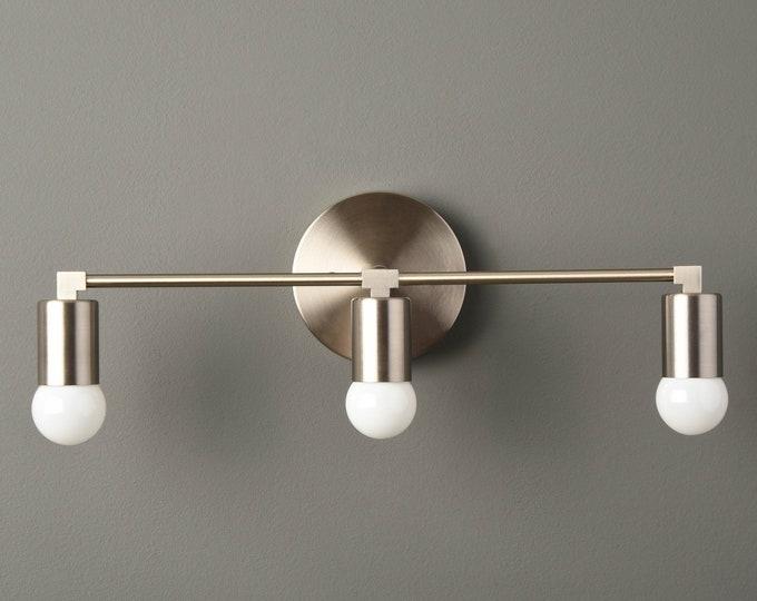 Modern Bathroom Light - Wall Sconce - Brushed Nickel - Mid Century - Industrial - Wall Light - Bathroom Vanity - UL Listed [AVON]