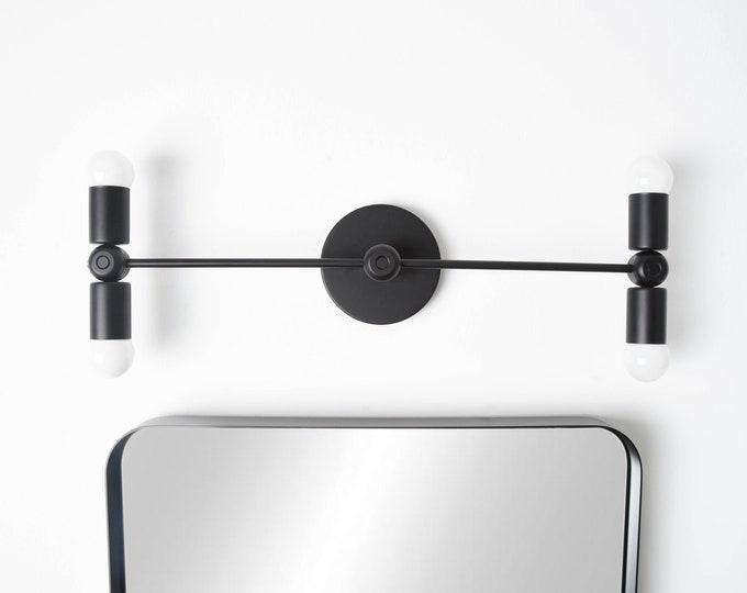 Wall Sconce - Matte Black - Vanity Light - Modern - Mid Century - Industrial - Wall Light - Bathroom Vanity - UL Listed [SYRACUSE]