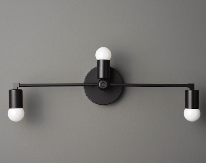 Bathroom Vanity Light - Modern Wall Sconce - Matte Black - Mid Century - Industrial - Wall Light - UL Listed [GRANADA]