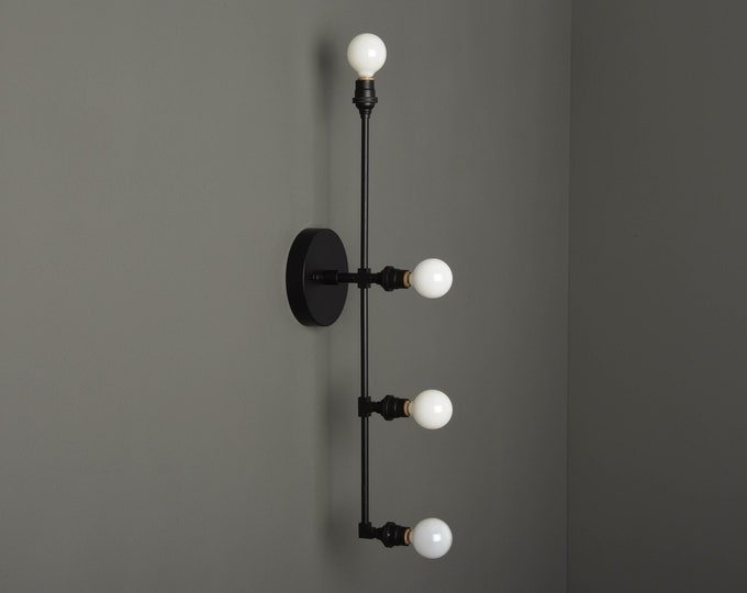 Modern Bathroom Light - Industrial Vanity Light - Matte Black - Mid Century - Wall Light - Bathroom Vanity - UL Listed [INVERNESS]