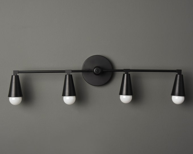 Modern Vanity Light - Black Light Fixture - Minimal - Industrial Wall Sconce - Mid Century - Bathroom Vanity - UL Listed [AUBURN]