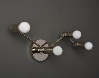 Constellation Wall Sconce - Polished Nickel - Mid Century - Modern - Industrial - Wall Light - Bathroom Vanity - UL Listed [MILANO]