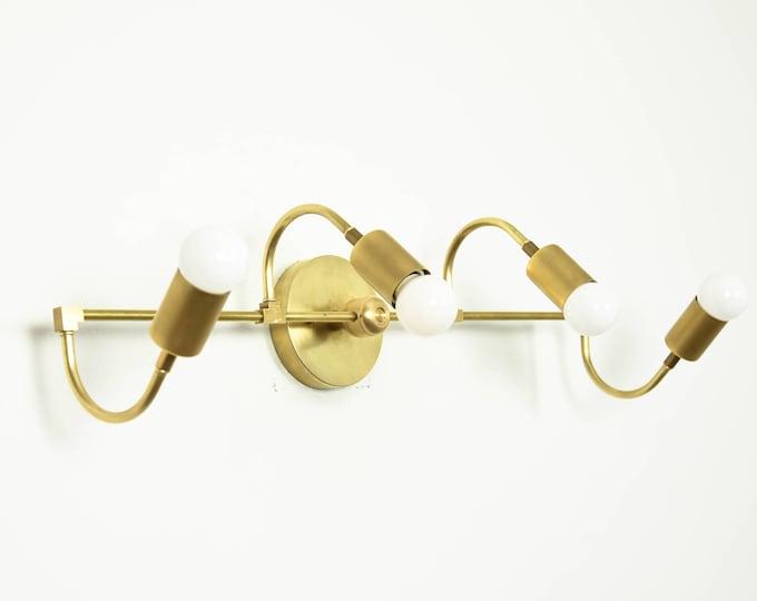 Bathroom Vanity Light - Wall Sconce - Raw Brass - Mid Century - Modern - Wall Light - Unique Lighting - UL Listed [FULTON]