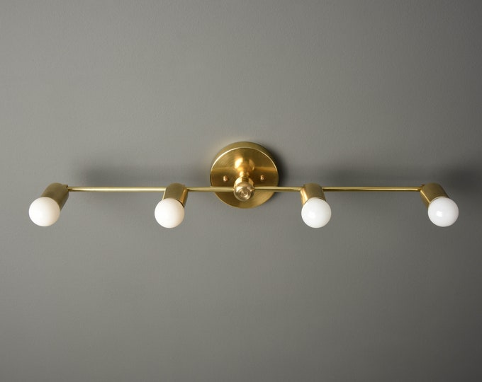 Gold Vanity Light - Wall Sconce - Modern Bathroom Light - Minimal - Mid Century - Industrial - Wall Light - UL Listed [GENEVA]