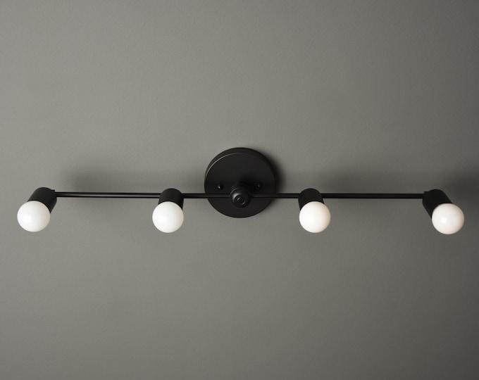 Black Minimal Light - Wall Sconce - Modern Bathroom Light - Vanity Sconce - Mid Century - Industrial - Wall Light - UL Listed [GENEVA]