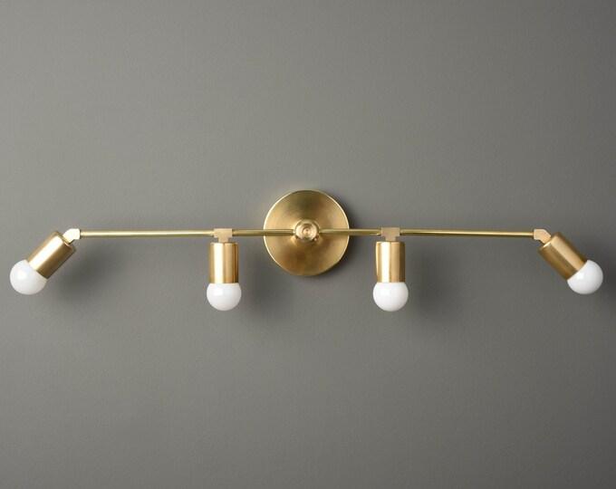 Modern Vanity Light - Bathroom Light - Raw Brass - Wall Sconce - Mid Century - Minimal - Industrial - Wall Light - UL Listed [ROCHESTER]