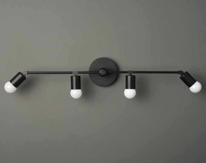 Modern Black Fixture - Vanity Light - Bathroom Light - Wall Sconce - Mid Century - Minimal - Industrial - Wall Light - UL Listed [ROCHESTER]