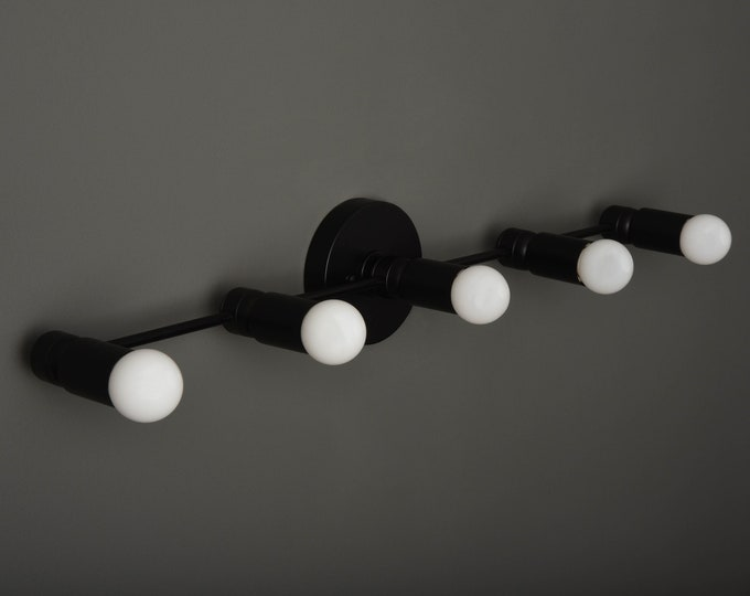 Modern Bathroom Light - Black Wall Sconce - Mid Century - Modern Light - Industrial - Wall Light - Track Lighting - UL Listed [ASPEN]