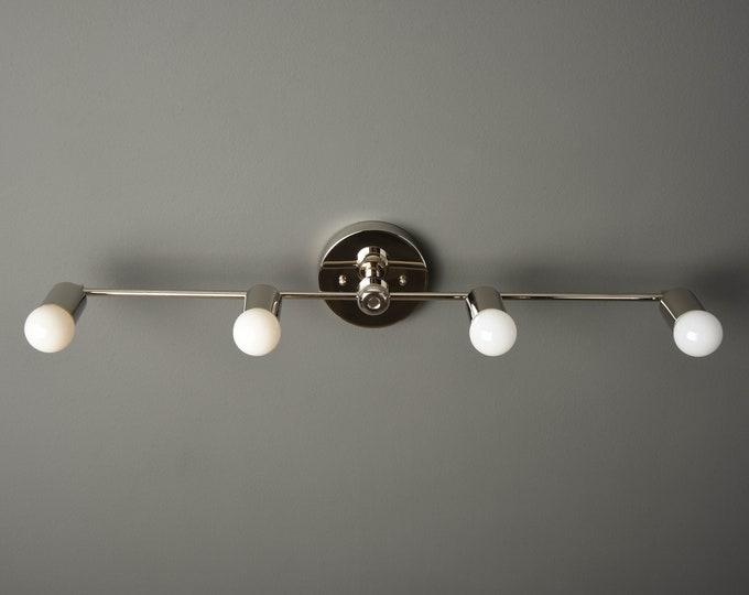Nickel Vanity Light - Wall Sconce  - Modern Bathroom Light - Minimal Light - Mid Century - Industrial - Wall Light - UL Listed [GENEVA]
