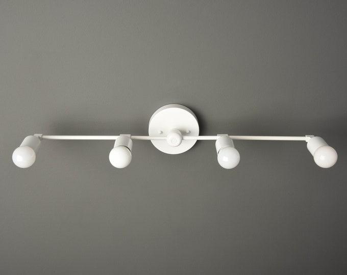 White Wall Sconce  - Modern Bathroom Light - Minimal Light - Mid Century - Industrial - Wall Light - UL Listed [GENEVA]