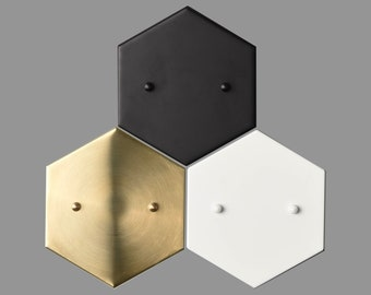 Add a Hexagon Canopy to Any Fixture - (Raw Brass, Matte Black, and Matte White Only)