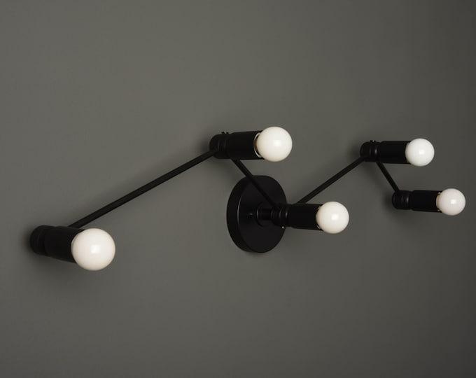 Modern Bathroom Light - Black Wall Sconce - Mid Century - Industrial - Constellation - Wall Light - Vanity Light - UL Listed [VERONA]