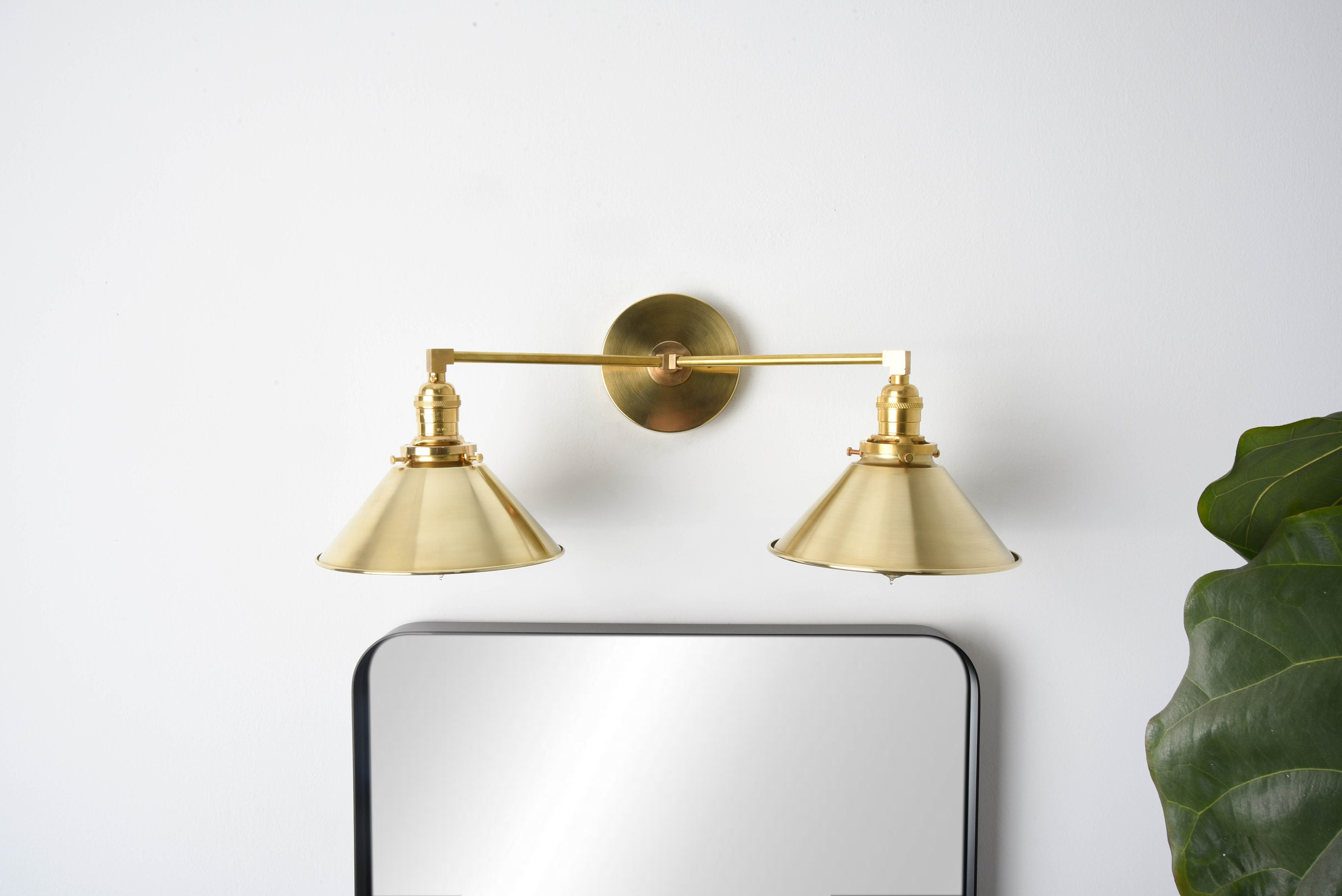 Industrial wall sconce gold vanity light mid century modern industrial wall light bathroom vanity ul listed milford